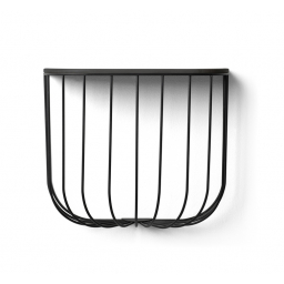 Police Cage Shelf Black