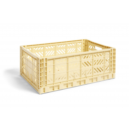Úložný box Crate Light Yellow L