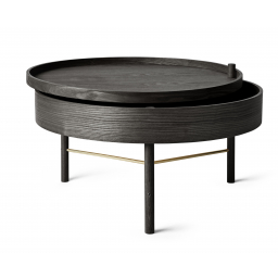 Stolek Turning Table Black Stained Ash 65 cm