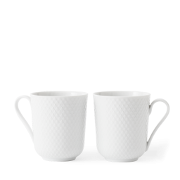 Porcelánový hrnek Rhombe 33 cl - set 2 ks
