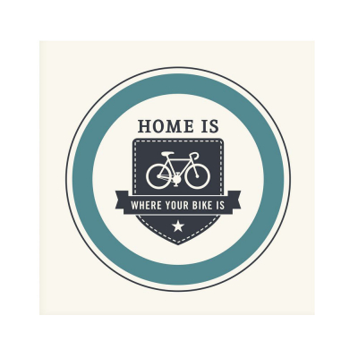 "Plakát ""Home is where your bike is"""