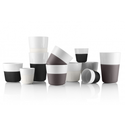 Set termohrnků na kávu Lungo Black 230 ml, 2 ks